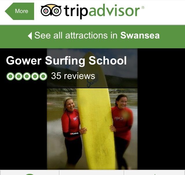 Gower surf school on trip advisor, see what our customers have said on tripadvisor
