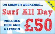 Surf all day on weekends - £40
